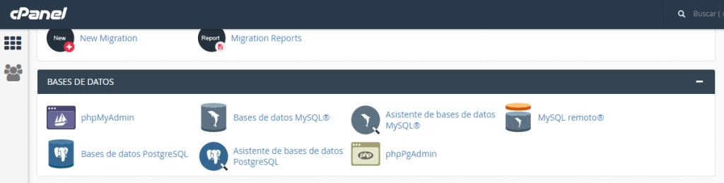 Como ingresar a phpMyAdmin desde cPanel