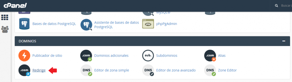 redireccion en cpanel