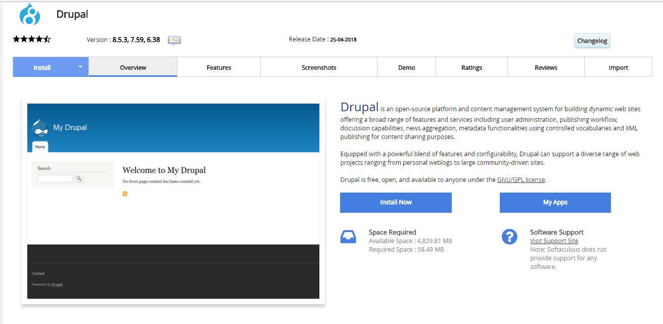 como crear una pagina web en drupal