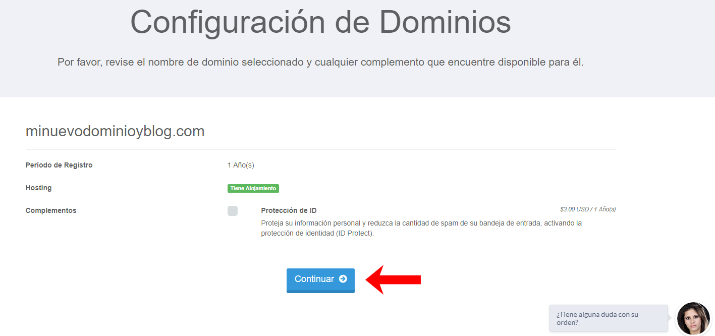 configurar dominio y hosting