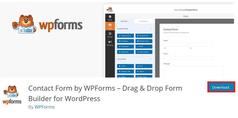 descargar plugin wpform