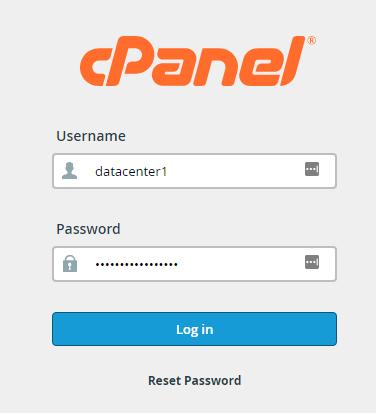 acceso a cPanel